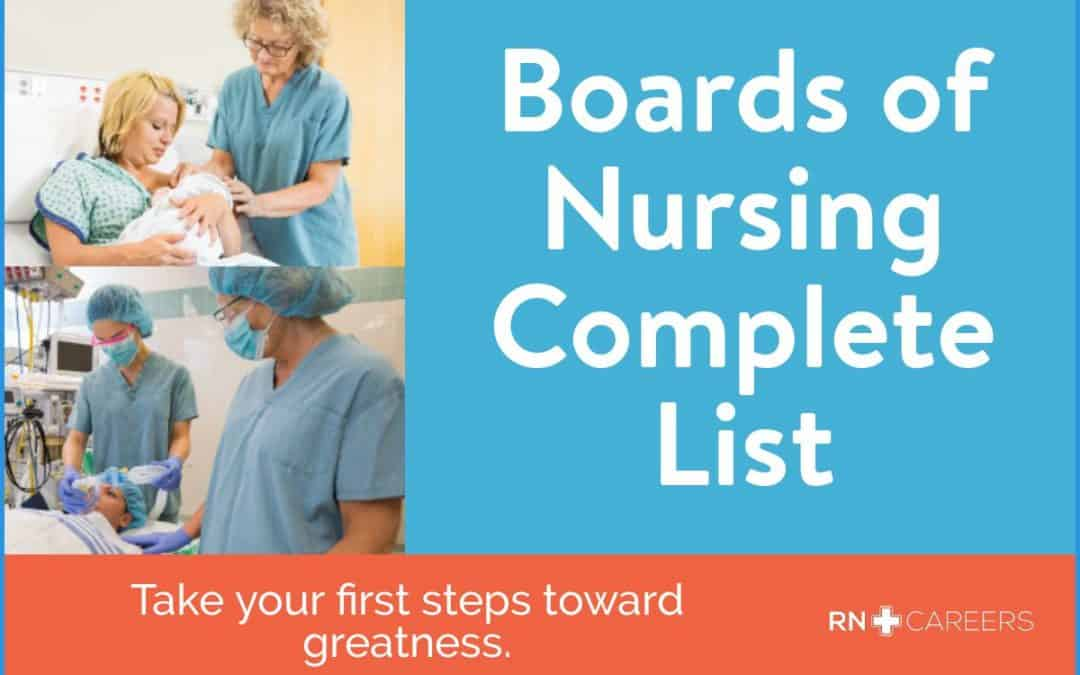 List of State Boards of Nursing (BON)